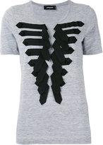 DSQUARED2 military frogging detail t-shirt - women - Cotton/Viscose - XS