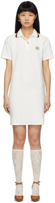 Gucci White Terrycloth Polo Dress