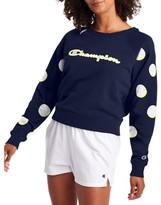 Champion Womens Campus French Terry Crew Neck Sweatshirt