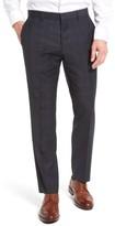BOSS Men's Genesis Flat Front Plaid Wool Trousers