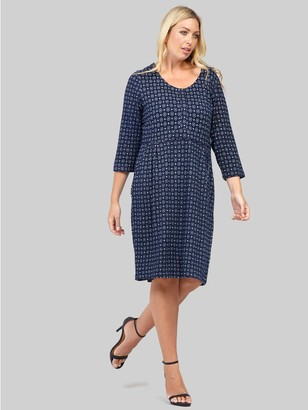 M&Co Izabel Curve geo ruched shift dress