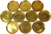 One Kings Lane Vintage Gold Porcelain Coasters, S/10