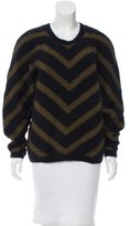 Balmain Chevron Angora Sweater