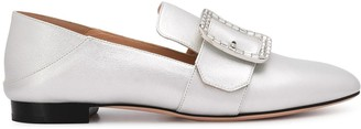 Bally Janelle metallic loafers