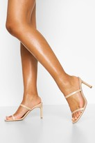 Thumbnail for your product : boohoo Double Strap Square Toe Mules