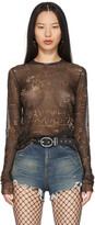 Thumbnail for your product : Jean Paul Gaultier SSENSE Exclusive Black Les Marins Mesh Graffiti Long Sleeve T-Shirt