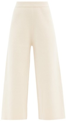 Joseph Cropped Wide-leg Wool Trousers - Ivory