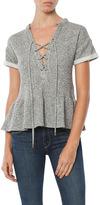Maven West Laura Lace Up Peplum Sweatshirt