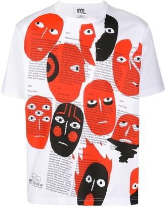 Junya Watanabe face print T-shirt