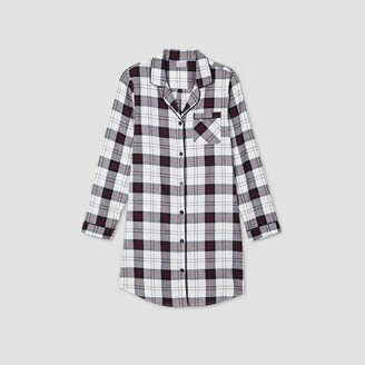 Women's Holiday Plaid Flannel Matching Family Pajamas Nightgown - WondershopTM