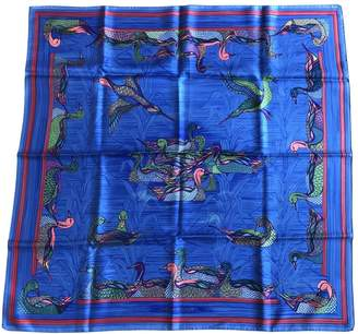 Hermes Carre 90 Blue Silk Silk handkerchief