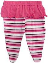 Kickee Pants Print Footed Pant w/ Skirt (Baby) - Winter Rose St-Newborn