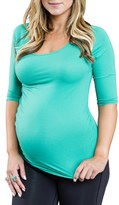 Cozy Orange Women's 'Rue' Maternity Top