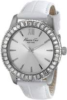 Kenneth Cole New York Women's KC2849 Classic Round Silver Dial Croco Strap Watch