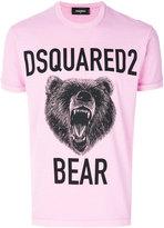 DSQUARED2 bear print T-shirt - men - Cotton - S
