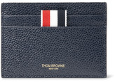 Thom Browne Pebble-grain Leather Cardholder - Navy