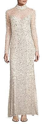 Parker Black Women's Leandra Sequin Gown - Size 0