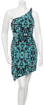 Mara Hoffman One-Shoulder Asymmetric Printed Dress