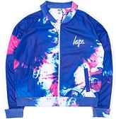 Hype Girls' Splash Track Cropped Jacket, Blue