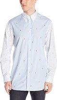 Vivienne Westwood Men's Omar Mixed Pattern Button-Down Shirt