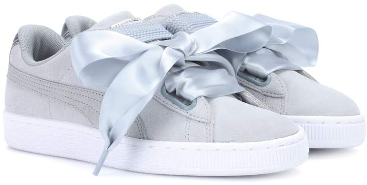 the best attitude df9bf 7320b Basket Heart suede sneakers