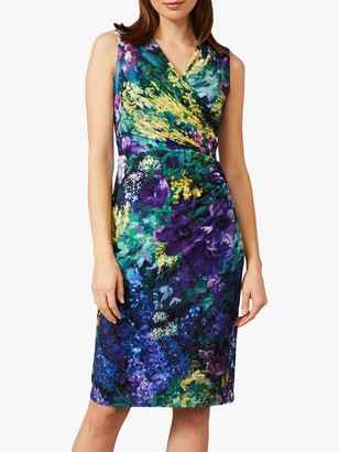 Phase Eight Beau Floral Wrap Dress, Multi