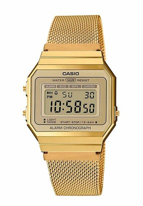 Casio Womens Digital Watch with Stainless Steel Strap A700WEMG-9AEF