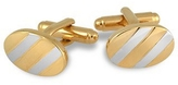 A-Z Collection Gold and Silver Plated Oval Cufflinks