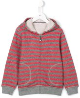 Il Gufo striped zip hoodie - kids - Cotton/Polyester/Viscose - 10 yrs