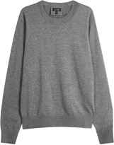 Armani Jeans Grey Cotton Jumper
