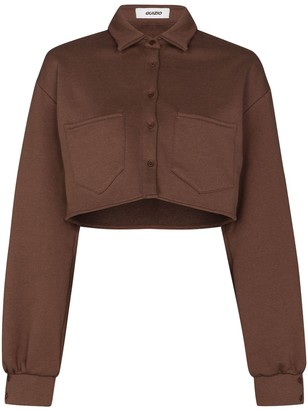 Danielle Guizio Cropped Button-Up Cardigan