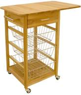 Catskill Craft Single Drop Leaf Basket Cart