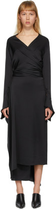 Lanvin Black Wrap-Over Dress