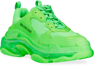 Balenciaga Triple S Clear-Sole Trainer Sneakers