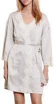 Lauren Ralph Lauren Signature Collection Satin Wrap Robe