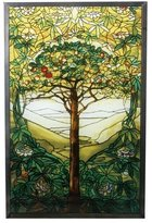 """Summit 10 Inch Stained Glass Tiffany - """"Tree of Life"""" Art Glass"""