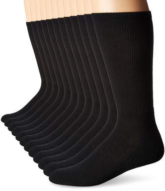 Hanes Men's Big and Tall FreshIQ X-Temp Active Cool Crew Socks 12-Pack
