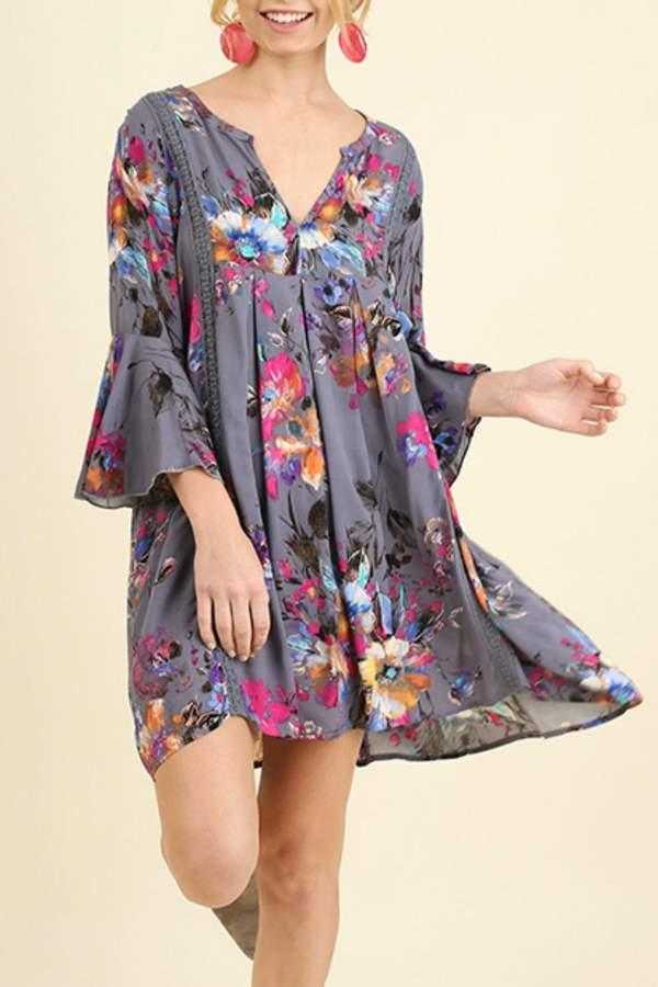 Umgee USA Babydoll Floral Dress