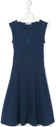 Familiar Flared Midi Dress