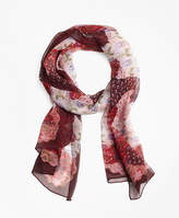 Brooks Brothers Indian Garden Silk Oblong Scarf