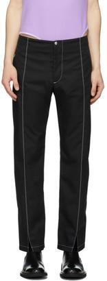 Daniel W. Fletcher Black Contrast Stitch Trousers