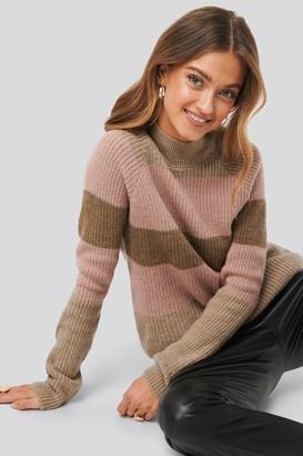 NA-KD Raglan Sleeve Striped Knitted Sweater