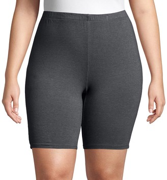 Just My Size Plus Size Stretchy Jersey Bike Shorts