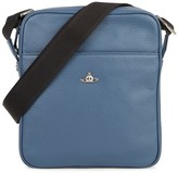 Vivienne Westwood Small Blue Leather Messenger Bag