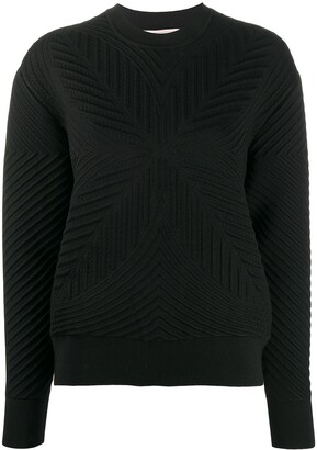 Alexander McQueen Patterned Rib-Knit Jumper