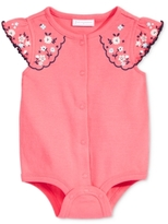 First Impressions Floral-Sleeve Cotton Snap-Up Bodysuit, Baby Girls (0-24 months)