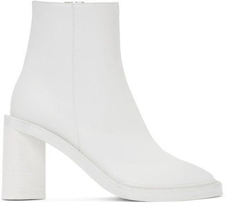 Acne Studios White Square Toe Boots