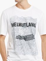 Helmut Lang White Printed Cotton T-shirt