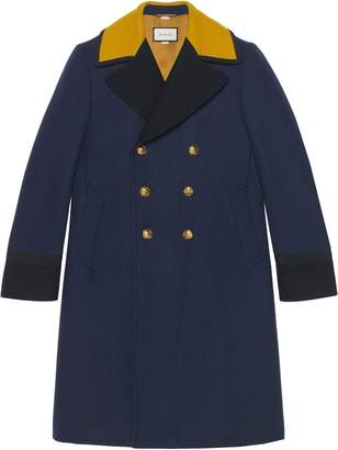 Gucci double breasted marine coat