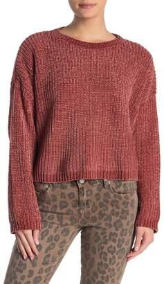 Blank NYC BLANKNYC Denim Open Back Knit Sweater